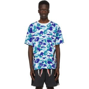 BAPE Blue Camo Side Shark T-Shirt