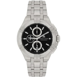 Maurice Lacroix Silver AIKON Chronograph 44mm Watch