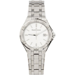 Maurice Lacroix Silver and White Aikon Automatic Watch