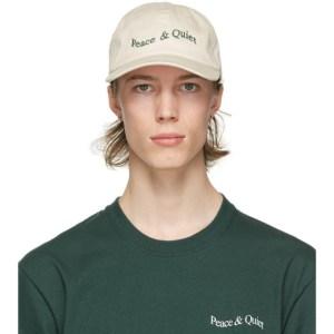 Museum of Peace and Quiet Off-White Wordmark Cap