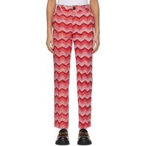 SSENSE WORKS SSENSE Exclusive Jeremy O. Harris Red and Pink Print Cropped Trousers