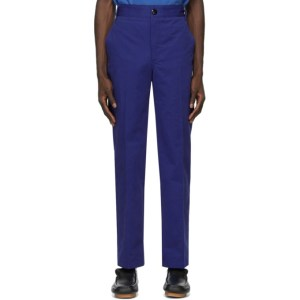 SSENSE WORKS SSENSE Exclusive Jeremy O. Harris Blue Twill Chino Trousers
