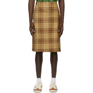 SSENSE WORKS SSENSE Exclusive Jeremy O. Harris Brown Check Wrap Skirt