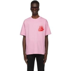 SSENSE WORKS SSENSE Exclusive Jeremy O. Harris Pink Rose T-Shirt