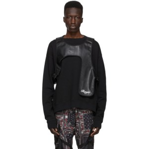 ROGIC Reversible Black Leather Harness Vest