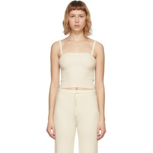 Lisa Yang Off-White Cashmere The Claire Tank Top