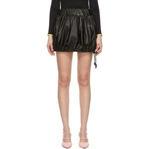Kijun Black Faux-Leather Pumpkin Miniskirt
