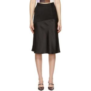 Kijun Black Wool Wet Skirt