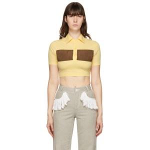 Kijun Yellow Short Shirring Polo