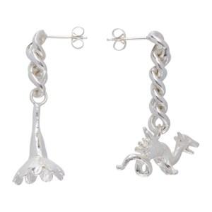 Georgia Kemball Silver Pendant Earrings