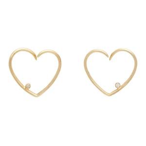 Yvonne Leon Gold Broken Heart Earrings