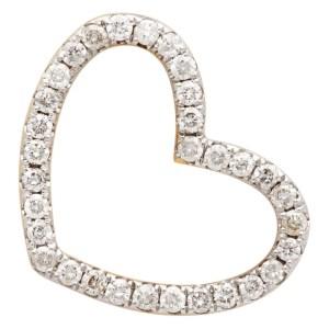 Yvonne Leon Gold Puce Coeur Single Earring
