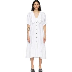 Kika Vargas White Consuelo Dress