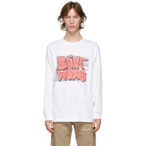 Saintwoods White Graphic Success Long Sleeve T-Shirt