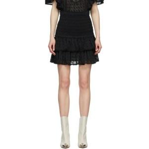 Isabel Marant Etoile Black Tinaomi Miniskirt