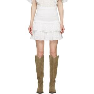 Isabel Marant Etoile White Tinaomi Miniskirt