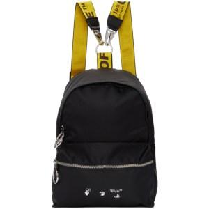 Off-White Black and White Nylon Mini Backpack