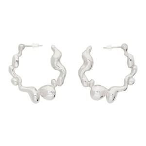 Hannah Jewett Silver Puddle Play Hoop Earrings