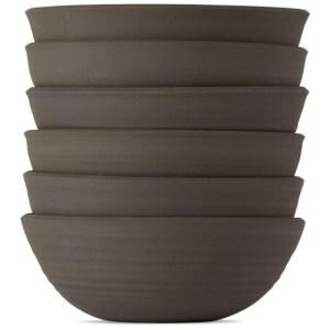 Lily Pearmain SSENSE Exclusive Black and White Bowl Set
