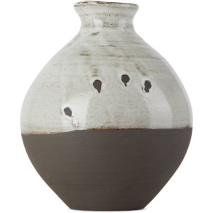 Lily Pearmain SSENSE Exclusive Black and White Tsubo Vase