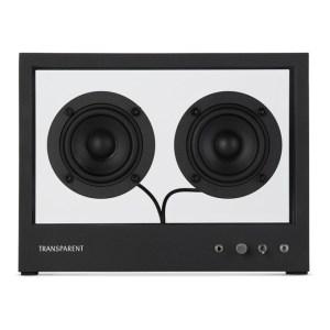 Transparent Black Small Glass Speaker