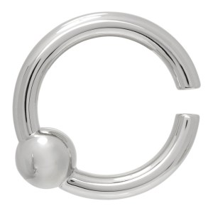 Johnlawrencesullivan Silver Captive Bead Ring Single Ear Cuff