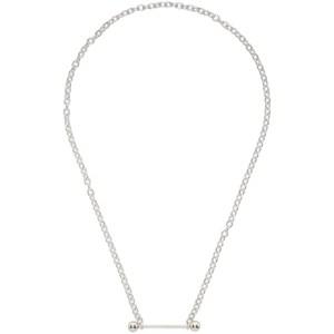 Johnlawrencesullivan Silver Straight Barbell Necklace