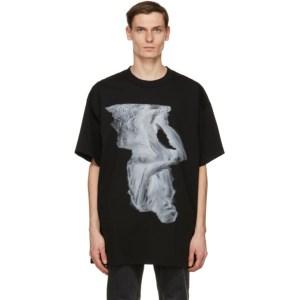 Johnlawrencesullivan Black Oversized Print T-Shirt