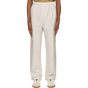 Lemaire Beige Elasticated Trousers
