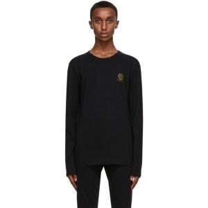 Versace Underwear Black Medusa Long Sleeve T-Shirt