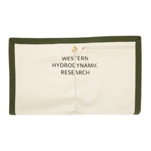 Western Hydrodynamic Research Off-White and Khaki Fin Bag