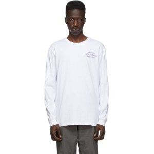 Western Hydrodynamic Research SSENSE Exclusive White Uniform Long Sleeve T-Shirt