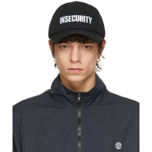 VETEMENTS Black Insecurity Cap