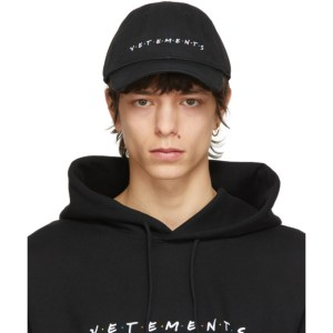VETEMENTS Black Friendly Logo Cap
