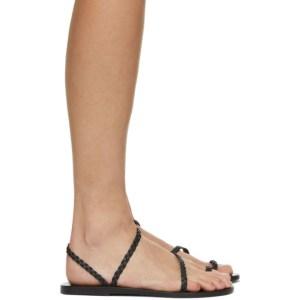 Ancient Greek Sandals Black Eleftheria Sandals