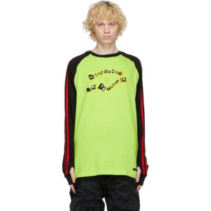 99% IS Black and Yellow Raglan Long Sleeve T-Shirt