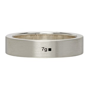 Le Gramme Silver Brushed Le 7 Grammes Ribbon Ring