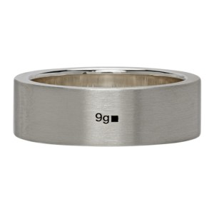 Le Gramme Silver Brushed Le 9 Grammes Ribbon Ring