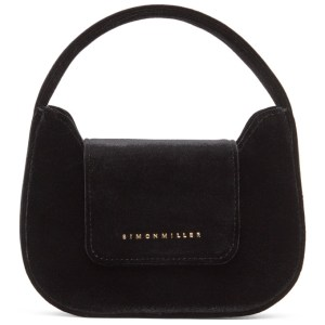 Simon Miller Black Velvet Mini Retro Bag