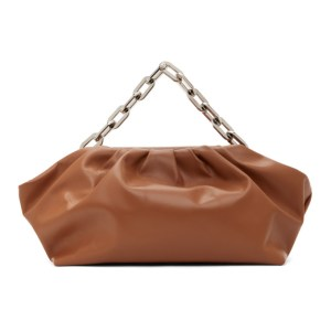 Marques Almeida SSENSE Exclusive Brown Pleated Clutch Bag