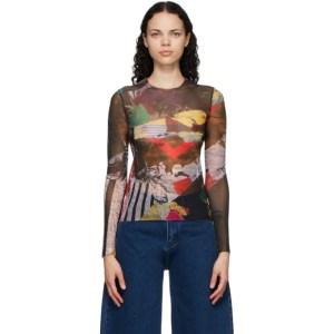 Marques Almeida Multicolor Mesh Long Sleeve T-Shirt