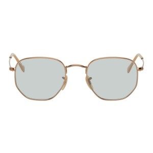 Ray-Ban Copper and Blue Evolve Hexagonal Sunglasses