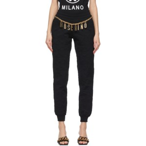 Moschino Black Smiley© Edition Quilted Lounge Pants