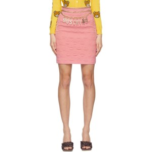 Moschino Pink Smiley© Edition Crepe Miniskirt