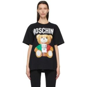 Moschino Black Italian Teddy Bear T-Shirt