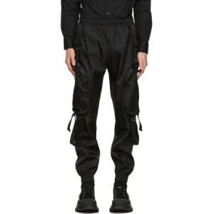 Moschino Black Nylon Technical Cargo Pants