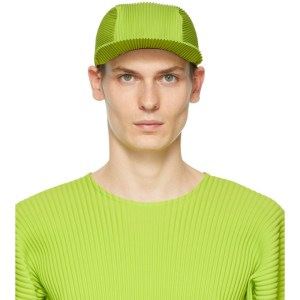 Homme Plisse Issey Miyake Green Pleated Cap