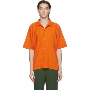 Homme Plisse Issey Miyake Orange MC July Short Sleeve Shirt