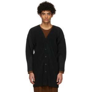 Homme Plisse Issey Miyake Black Monthly Colors October Long Cardigan
