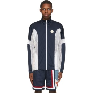 Telfar Navy Converse Edition Basketball Zip-Up Sweater